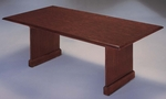 Governors 6' Rectangular Conference Table with Slab Bases - Engraved Executive Mahogany [7350-93-FS-DMI]