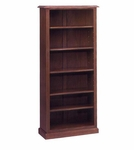 Governors 60'' H Bookcase - Engraved Executive Mahogany [7350-160-FS-DMI]