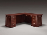 Governors 66'' W Left Executive L Desk - Engraved Executive Mahogany [7350-49-FS-DMI]