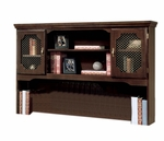 Governors 66'' W x 13'' D Overhead Storage - Engraved Executive Mahogany [7350-62-FS-DMI]