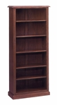 Governors 72'' H Bookcase - Engraved Executive Mahogany [7350-172-FS-DMI]