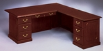 Governors 72'' W Right Executive L Desk - Engraved Executive Mahogany [7350-55-FS-DMI]