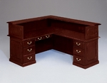 Governors 72'' W Right Reception L Desk - Engraved Executive Mahogany [7350-655-FS-DMI]