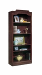 Governors 74'' H Bookcase - Engraved Executive Mahogany [7350-08-FS-DMI]