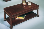 Governors Cocktail Table - Engraved Executive Mahogany [7350-84-FS-DMI]
