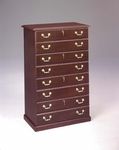 Governors Four Drawer Lateral File - Engraved Executive Mahogany [7350-17-FS-DMI]