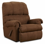 Grace Contemporary Style Polyester Rocker Recliner - Flat Suede Chocolate [478700-FCH-FS-CHEL]