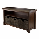 Granville Storage Bench with 3 Foldable Baskets [94338-FS-WWT]