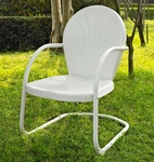 Griffith Metal Chair in White Finish [CO1001A-WH-FS-CRO]