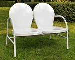 Griffith Metal Loveseat in White Finish [CO1002A-WH-FS-CRO]