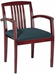 OSP Furniture Kenwood Guest Leg Chair with Wood Slat Back - Set of 2 [KEN-992-FS-OS]