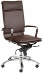 Gunar Pro High Back Office Chair in Brown [01264BRN-FS-ERS]