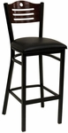 Half Wood Back Barstool with Slotted Accents - Grade 5 Vinyl [77B-BS-GR5-SAT]