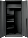 800 Series One Wide Single Tier Double Door Combination Cabinet - Unassembled - Midnight Ebony - 36''W x 24''D x 78''H [855C24ME-HAL]