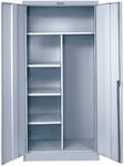 800 Series Antimicrobial One Wide Single Tier Combination Cabinet Assembled - Platinum - 36''W x 24''D x 78''H [855C24A-PL-AM-HAL]