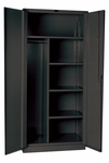 DuraTough Classic Series Extra Heavy Duty Combination Storage Cabinet Assembled - Charcoal - 36''W x 24''D x 78''H [HW4CC6478-4CL-HAL]