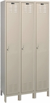 Value Max Three Wide Single-Tier Locker Assembled - Parchment Finish - 36''W x 12''D x 78''H [UH3228-1A-PT-HAL]