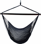 Caribbean Tight Weave Polyester Hanging Hammock Rope Chair - Navy Blue [4913N-FS-ALG]