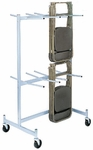 Compact Size Hanging Folded Chair Storage Truck - 74''H [920-RPC]