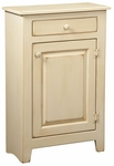 Hannah Rustic Style 23''W x 16''D Solid Pine Small Cabinet - Buttermilk [465-007-FS-CHEL]