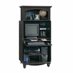 Harbor View 34''W x 68''H Wooden Computer Armoire with Elevated Upper Shelf - Antiqued Paint [138070-FS-SRTA]