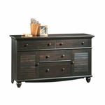 Harbor View 58.25''W Dresser with Louver Doors - Antiqued Paint [401324-FS-SRTA]