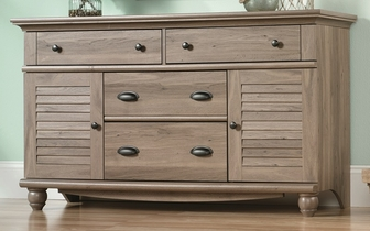 Harbor view 58 39 39 w x 34 39 39 h wooden 4 drawer dresser with 2 for Furniture oak harbor