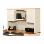 Harbor View 36.125''H Hutch with Hidden Storage - Antiqued White [403785-FS-SRTA]