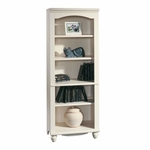 Harbor View 72.25''H Bookcase with Adjustable Shelves - Antiqued White [158085-FS-SRTA]