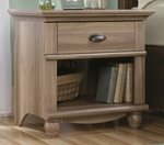 Harbor View 26''W x 26''H Wooden Night Stand with Solid Wood Knobs - Salt Oak [415004-FS-SRTA]