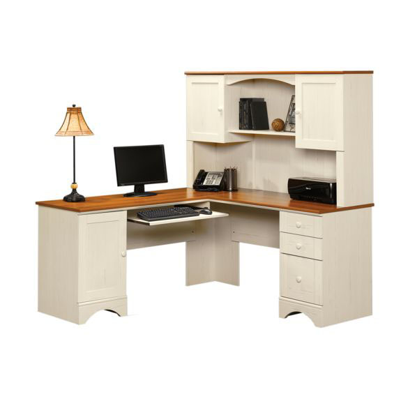 harbor view wooden 66 39 39 square corner computer desk with. Black Bedroom Furniture Sets. Home Design Ideas