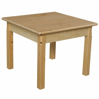 Solid hardwood table with rounded child safe corners and for Table th rounded corners