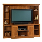 Harvest Mill 71.5''W Home Theater with Adjustable Shelves - Abbey Oak [404963-FS-SRTA]
