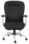 Heavy Duty 350 lb Capacity Microfiber Chair with Padded Arms - Black [B990-FS-BOSS]