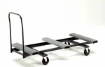 Heavy Duty Steel Rectangular Table Caddy with Swivel Casters - 31.25''W x 74''L x 41.75''H [HTC72-MFT]