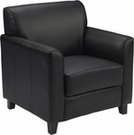 HERCULES Diplomat Series Black Leather Chair [BT-827-1-BK-GG]