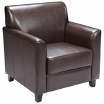 HERCULES Diplomat Series Brown Leather Chair [BT-827-1-BN-GG]