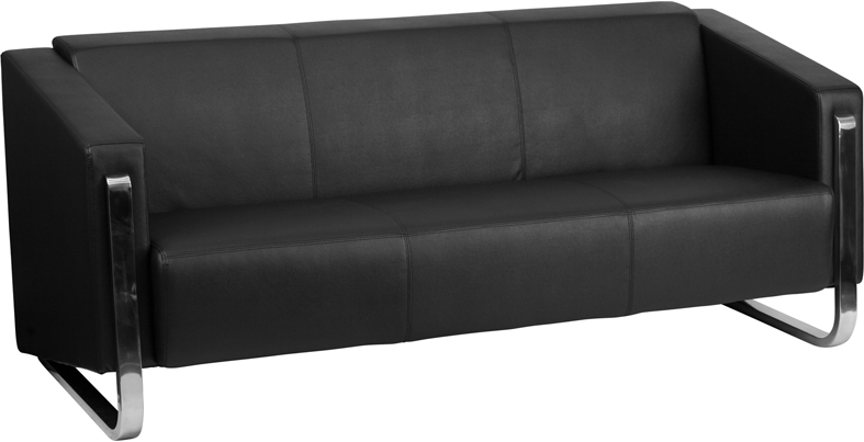 Hercules Gallant Series Contemporary Black Leather Sofa With