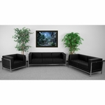 HERCULES Imagination Series Black Leather 3 Piece Sofa Set [ZB-IMAG-SET1-GG]
