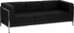 HERCULES Imagination Series Contemporary Black Leather Sofa with Encasing Frame [ZB-IMAG-SOFA-GG]