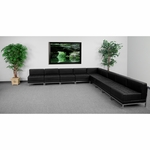 HERCULES Imagination Series Black Leather Sectional Configuration,9 Pieces [ZB-IMAG-SECT-SET7-GG]