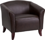 HERCULES Imperial Series Brown Leather Chair [111-1-BN-GG]