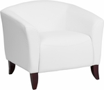 HERCULES Imperial Series White Leather Chair [111-1-WH-GG]
