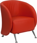 HERCULES Jet Series Red Leather Lounge Chair [ZB-JET-855-RED-GG]