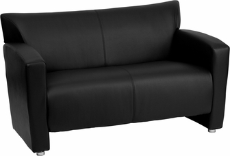 hercules majesty series black leather loveseat 2222bkgg