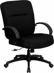 HERCULES Series Big & Tall 400 lb. Rated Black Fabric Executive Swivel Chair with Arms [WL-723ATG-BK-GG]