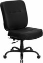 HERCULES Series Big & Tall 400 lb. Rated Black Leather Executive Swivel Chair