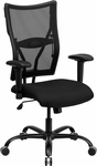 HERCULES Series Big & Tall 400 lb. Rated Black Mesh Executive Swivel Chair with Adjustable Arms [WL-5029SYG-A-GG]