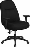 HERCULES Series 400 lb. Rated High Back Big & Tall Black Fabric Executive Swivel Chair with Adjustable Arms [WL-726MG-BK-A-GG]