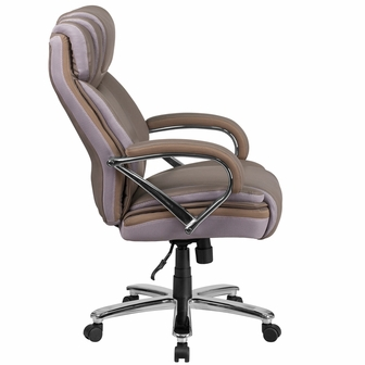 hercules series big & tall 500 lb. rated taupe leather executive